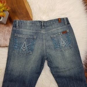 7FAM 7 For All Mankind Jeans Rhinestone A Pocket